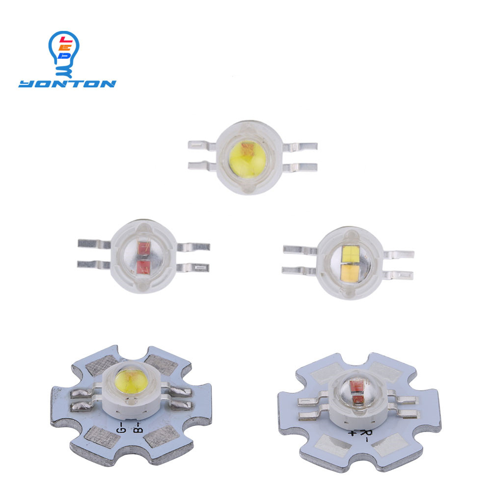 2*3W Bicolor Led Yellow White/Yellow Red/UV White/Red White For DIY Led Light