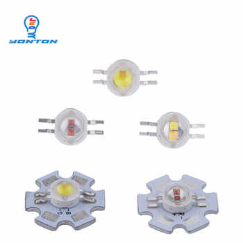 2*3W Bicolor Led Yellow white/Yellow Red/UV White/Red White for DIY Led Light - DISCOUNT ITEM  0% OFF All Category