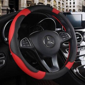 Car Steering Wheel Cover Auto Interior Accessories for bmw e39 e60 e61 f07 f10 f11 f18 g30 g31 e34 e46 e90 e91 e92 e93 f30 f31