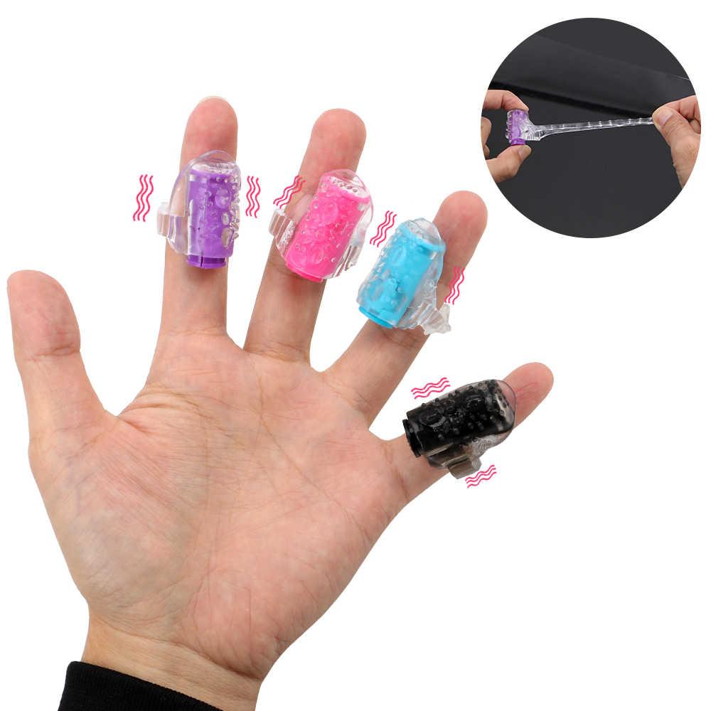 Cristal adulto mini dedo vibrador clitóris estimulador produtos sexuais oral lambendo clitóris vibradores sexo brinquedos masturbador para mulher