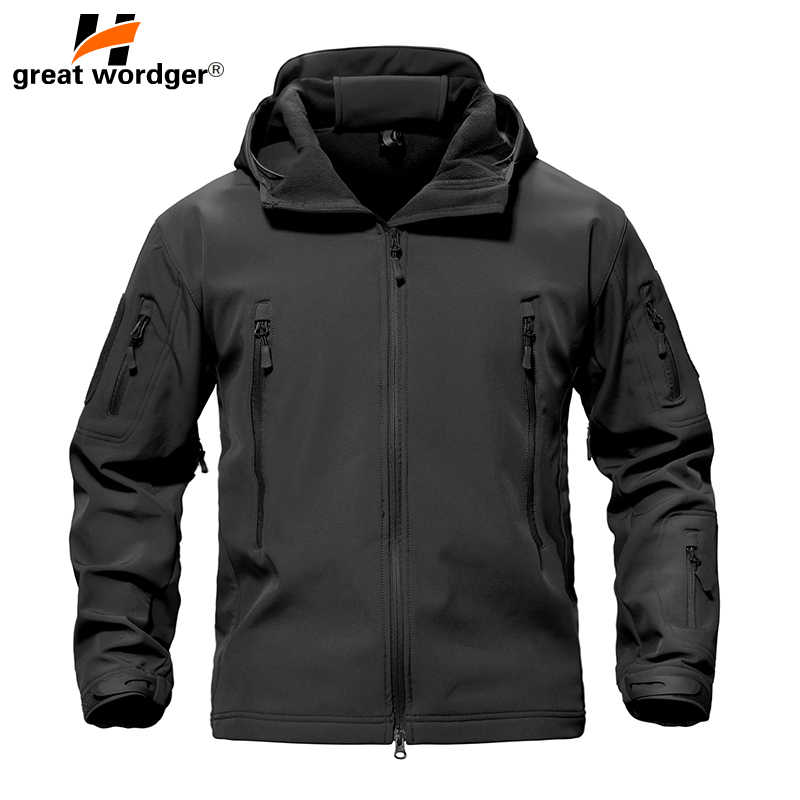 Army Mens Jackets Tactical Waterproof Soft Shell Windproof Outdoor Jacket Coats