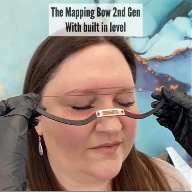 new arrived Mapping String eyebrow Ruler Microblading mapping Brow with mapping thread pre-inked positing Tattoo Accesories 5