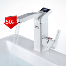 Electric-Faucet Hot-Water-Tap Intelligent Kitchen Instant KBAYBO 3000W LCD Digital New