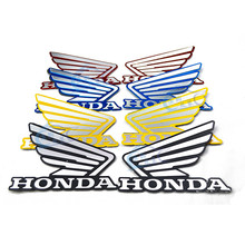 1 pair colorful gold black red brand Badge Emblem metal motorbike stickers car style moto decal for honda motorcycle sticker