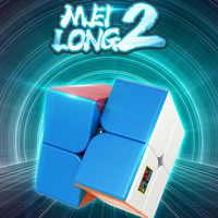 Moyu meilong mini bolso cubo velocidade 2x2 cubo mágico profissão enigma cubo educação das crianças para o jogo brinquedos presente
