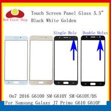 10 Cái/lốc Màn Hình Cảm Ứng Cho Samsung Galaxy J7 Thủ G610 G610F On7 2016 G6100 Bảng Điều Khiển Cảm Ứng Trước Ngoài Ống Kính J7 thủ LCD Kính
