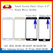 10 шт./лот сенсорный экран для Samsung Galaxy J7 Prime G610 G610F On7 2016 G6100 Сенсорная панель передняя внешняя линза J7 Prime ЖК стекло