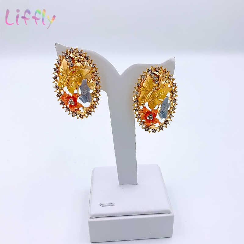 Joyería africana, abalorio para collar de mujer, pendientes de Dubái, conjuntos de joyas de oro para mujer, boda, pulsera nupcial, anillo, colgante, conjunto de joyería