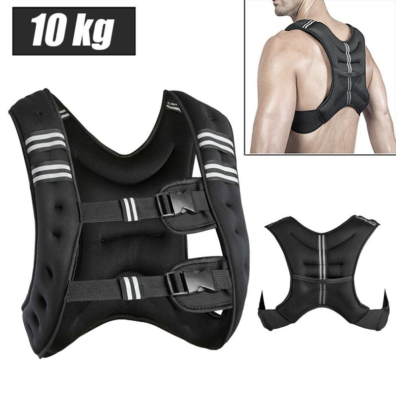 Loading Weight Vest 10kg For Boxing Training Workout Fitness Equipment Adjustable Waistcoat Jacket Sand Clothing HWC