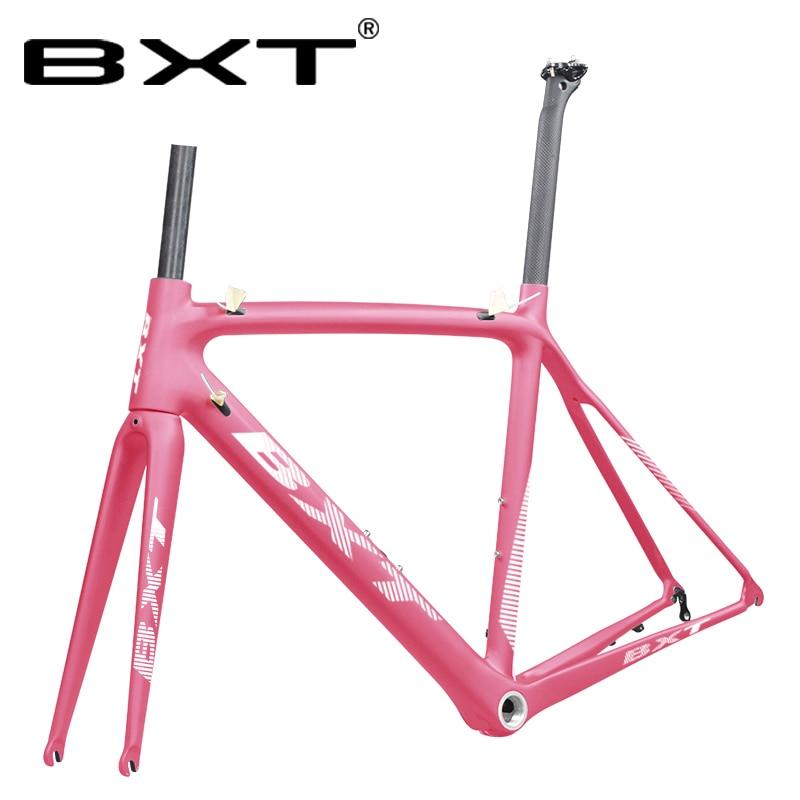 T800 Carbon Road Bike Frame 50/53/55cm Racing Bike Frame 700C Cycling Frameset 1-1/8