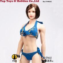 Cosplay 1/6 Scale Blue Bikini underwear Sexy Female Figure Clothes Accessory Model 12 Body