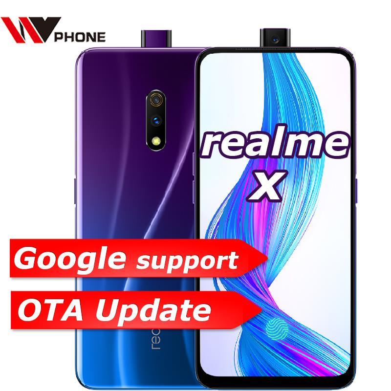 Realme x 4g lte 4 gb 64 gb snapdragon 710 octa núcleo 6.53 polegada tela 3765 mah câmera traseira dupla celular