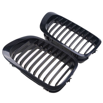 2D Black Kidney Sport Racing Grilles Grill for BMW E46 Coupe 2 Door 1999-2002 Pre-Facelift image