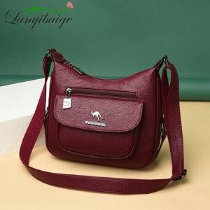 Image 2 - Lanyibaige高級ハンドバッグの女性のデザイナーソフト女性のクロスボディメッセンジャーバッグ女性ヴィンテージショルダーバッグ