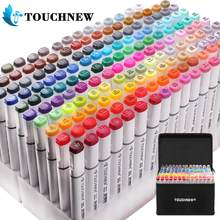 Touchnew Marker Pen-Set 20/36/48/72/108/168 Farben Animation Skizze Marker Dual Kopf Zeichnung Kunst Pinsel Stifte Alkohol