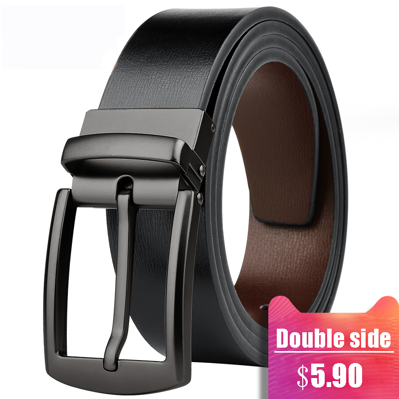 Japan Style 3.3cm Width Thin Leather Men Women Belt Genuine Leather Pin Buckle Waist Straps Belts For Jeans Casual High Quality