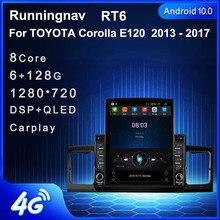 """9.7 """"Android 10.1 TOYOTA Corolla için E120 2013   2017 Tesla tip araba radyo multimedya Video oynatıcı navigasyon GPS RDS hiçbir dvd"""