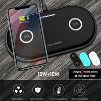 20W 2in1 Qi Caricatore Senza Fili Per iphone 11 XS MAX X 8 Dual 10W veloce Pad di Ricarica per Samsung s10 S9 S8 Huawei P30 Pro Compagno 30 20