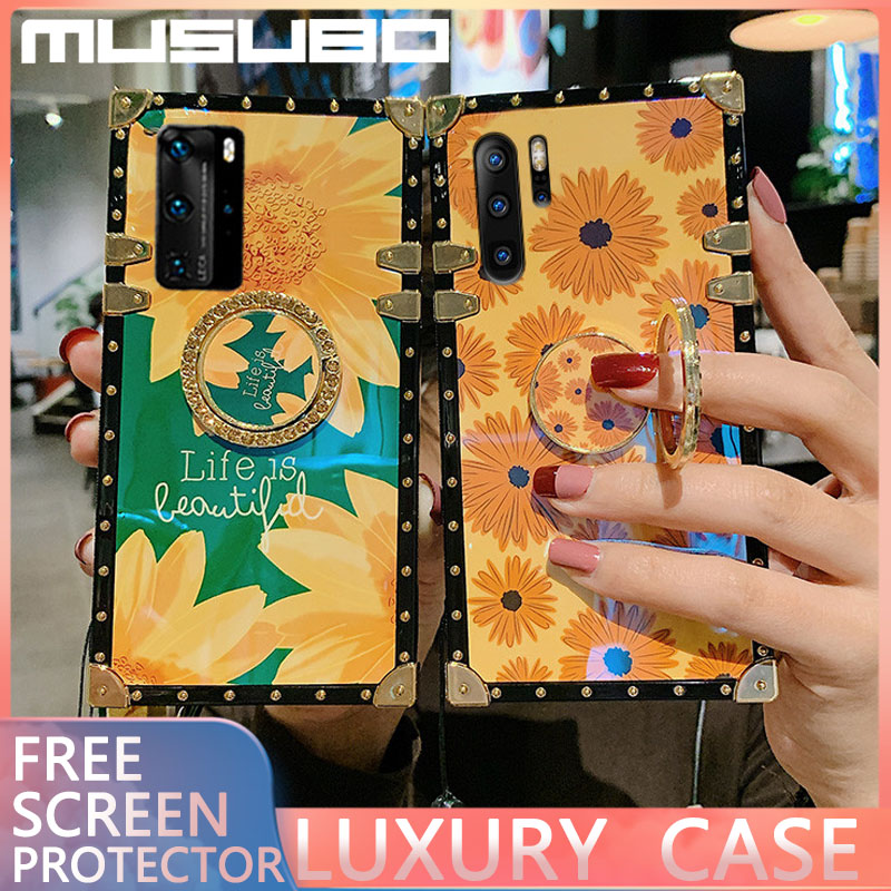 MUSUBO Luxury 3D <font><b>Case</b></font> A51 A20 s A91 <font><b>Case</b></font> For <font><b>Samsung</b></font> S20 Ultra S10 S8 Plus A10 M30 <font><b>A40</b></font> A70 M30S A50 A71 A81 square phone cover image