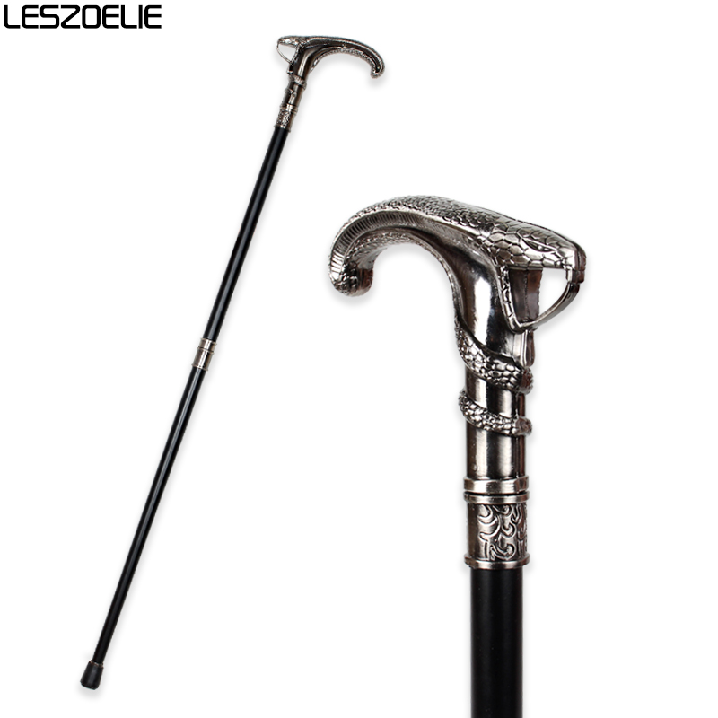 Snake-Head Luxury Walking Cane For Men Fashion Decorative Walking Stick Man Vintage Cane Party Antique Stick Elegant Hand Stick