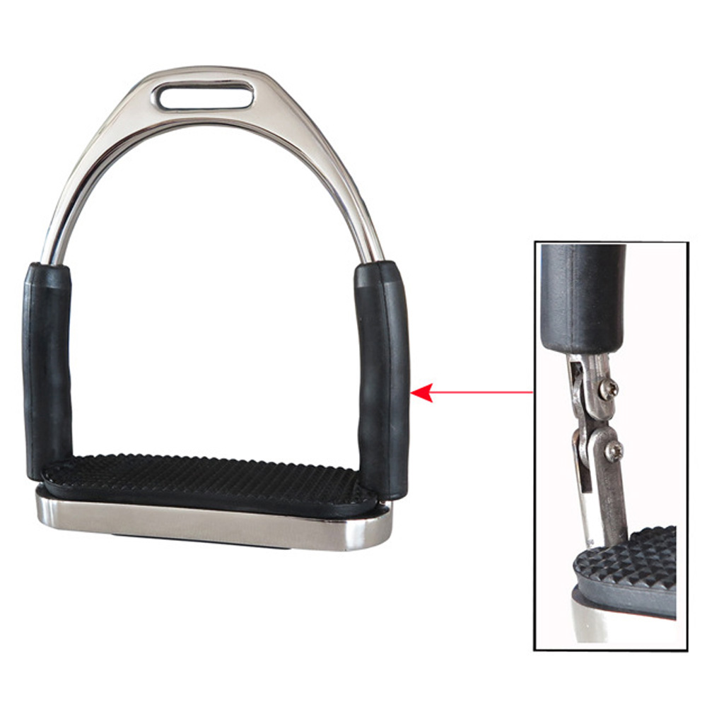 1Pair/2Pcs Saddle Pedals Fence Stirrup Horse Riding Equipment Safety Flexible Anti-Slip Racing Stainless Steel Stirrups Supplies