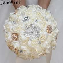 Janevini роскошный хрустальный свадебный букет невесты с цветами