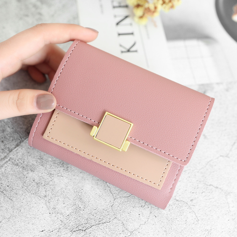 New Luxury Wallet Female Leather Women Leather Purse Plaid Wallet Ladies Hot Change Card Holder Coin Small Purses For Girls