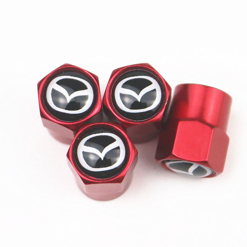 CAR Auto Emblem metal Cap Case For <font><b>Mazda</b></font> 2 <font><b>Mazda</b></font> 3 MS For <font><b>Mazda</b></font> 6 CX-5 <font><b>CX5</b></font> Car-Styling Badge <font><b>Accessories</b></font> 4pcs image