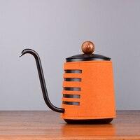 스테인레스 스틸 handleless 안티-뜨거운 커피 냄비 물방울 주전자 500ml 구즈넥 주둥이 커피 차 주전자와 커피 메이커