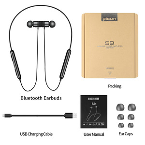 Image 5 - Picun S9 Sport Bluetooth Kopfhörer 5,0 Sweatproof Neckband Drahtlose Kopfhörer mit Mikrofon HiFi Bass Stereo Headset Ohrhörer