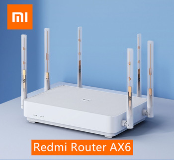 Xiaomi Redmi Router AX6 Wifi 6 6-Core 512M Memory Mesh Home IoT 6 Signal Amplifier 2.4G 5GHz 2+4 PA Auto Adapted Dual-Band OFDMA