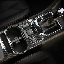 Carbon Fiber Gearshift Cup Holder Cover For 2017 2018 2019 2020 Subaru Impreza Crosstrek XV