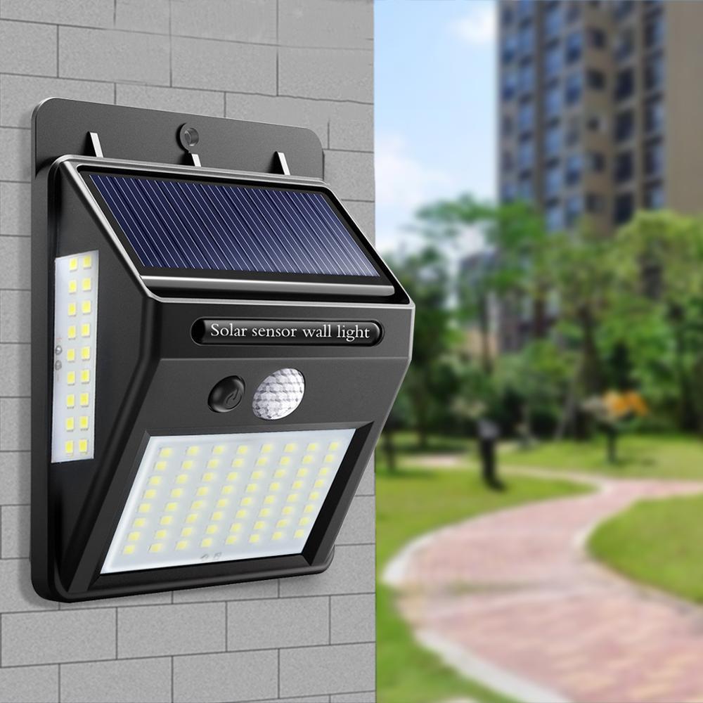 Night Light Solar Powered 100 35 20 LED Wall Lamp PIR Motion Sensor & Night Sensor Control Solar Light garden outdoor lighting-in LED Night Lights from Lights & Lighting