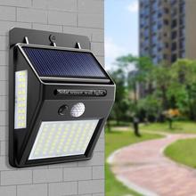 Veilleuse solaire alimenté 100 35 20 mur LED lampe PIR capteur de mouvement et nuit capteur contrôle lumière solaire jardin éclairage extérieur