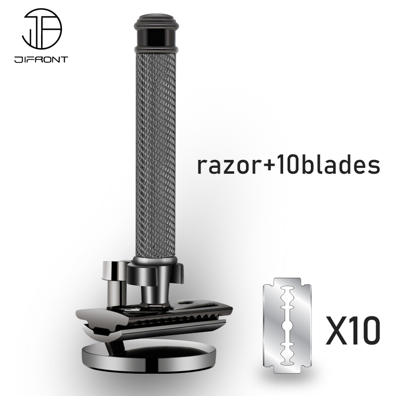 Double Edge Safety Razor Manual Razor Classic Men's Shaving Razor Metal Handle 10 Blade Hair Removal Shaver Traditional Razor
