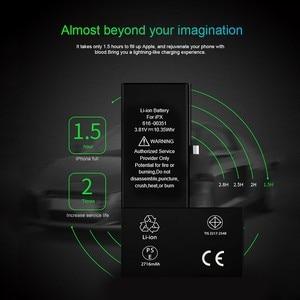Image 3 - Pinzheng Hoge Capaciteit Telefoon Batterij Voor Iphone X Xr Xs Max Replacment Bateria Voor Iphone X Xr Xs Max Batterij met Gereedschap