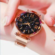 2019 luksusowe kobiety zegarki magnetyczne Starry Sky panie zegarek kwarcowy zegarek sukienka kobieta zegar relogio feminino darmowa wysyłka tanie tanio PLUOYO QUARTZ 5Bar Bransoletka zapięcie simple Stop Nie pakiet Odporne na wodę Wolfram stali 33mm WAT0080 21cm Hardlex