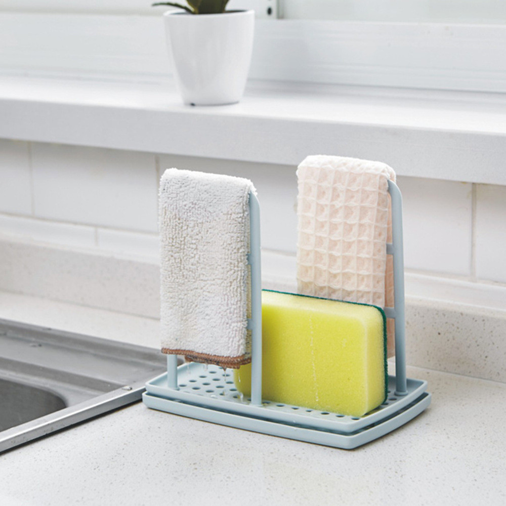 Kitchen Organizer Dish Bathroom Cabinet Drain Rack Clean Sponge Holder Storage Hanger Drainer Shelf Kitchen Supplies Accessories