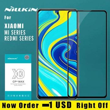 for Xiaomi Redmi Note 9S 9 Pro Max 8T 8 pro Mi 9 Pro Glass Nillkin XD CP+ Max Full Cover 3D Tempered Glass Screen Protector