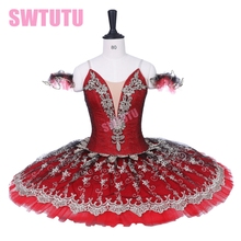 Adult professional Don Quijote variation ballet tutu Red Swan lake costume Ballerina Dress BT9203