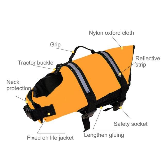 Adjustable Dog Life Jacket Vest - Rescue Swim Wear 3