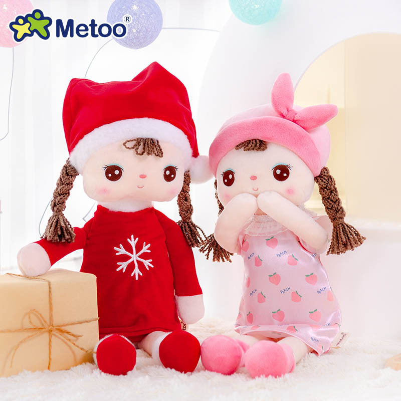 Metoo Doll  Plush Toys For Girls Baby Cute Cartoon Stuffed Animals For Kids Christmas Birthday Gift