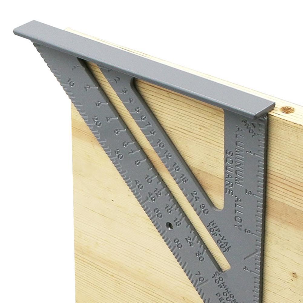 Треугольная линейка 90 градусов утолщение угол правило Алюминий сплав плотник измерения Площади Правитель макет инструмент измерения
