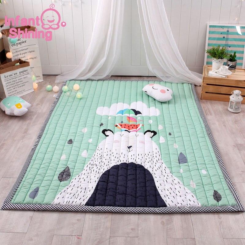 Tapis bébé tapis de jeu enfants tapis bébé Playmate 140X195X3CM tapis lavables en Machine pour salon anti-dérapant chambre 55X76 Inch - 2