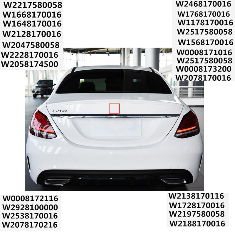 W212 Matte Black Star Emblem Rear Trunk Lid Logo E Class FIT FOR Mercedes