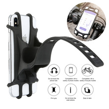 Uchwyt na telefon rowerowy silikonowy regulowany przycisk Pull Anti shock uchwyt na telefon uchwyt mocujący widelec na uchwyt na telefon rowerowy telefon