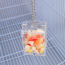 Forage-Toy Bird-Feeder Acrylic Pet-Feeding-Supplies Hanging Educational Clear Creative