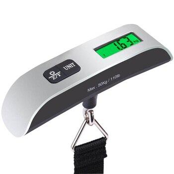 110lb/50kg LCD báscula de equipaje electrónica Digital portátil maleta de viaje báscula pesa bolsa de equipaje