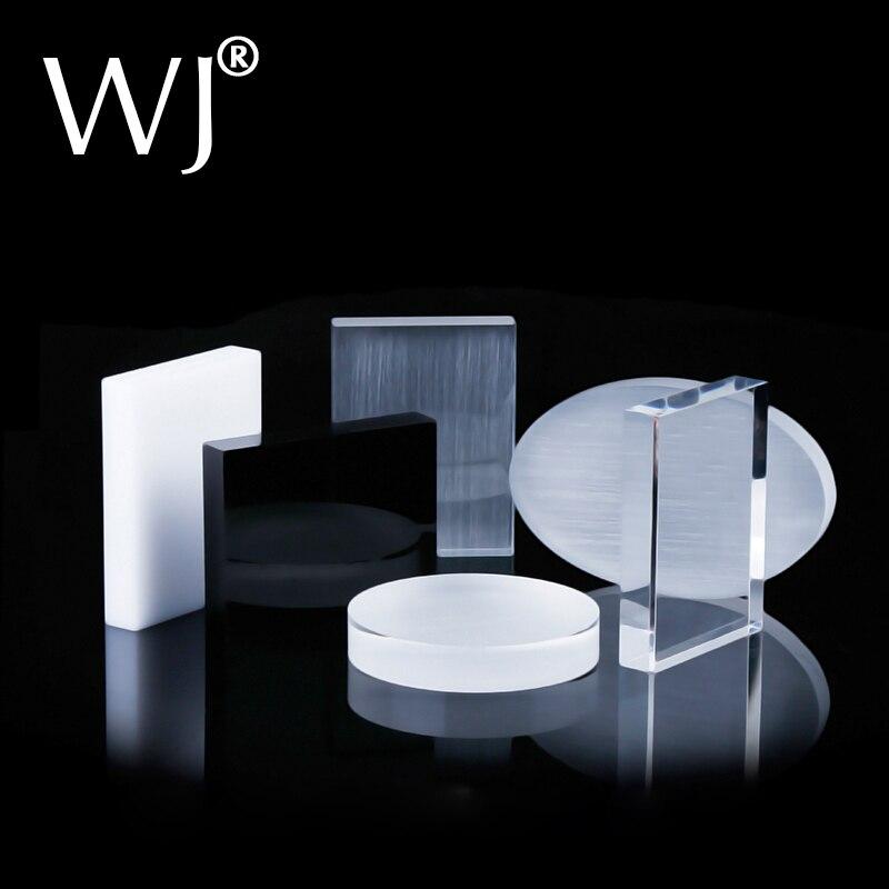 Customized Solid Acrylic Display Stand Shop Retail Jewellery Window Cabinet Doll Decoration Show Case Crystal Plexiglass Block