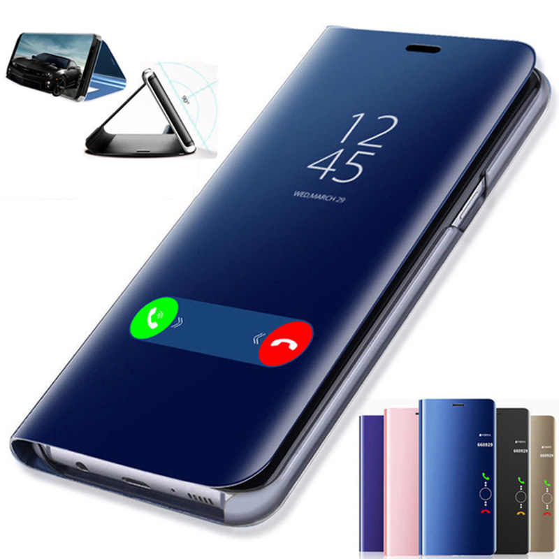 Smart Mirror Flip Case For Huawei P30 P20 Mate 20 10 Pro Lite P Smart 2019 Honor 20 View 20 7C 8X 10 8 9 Lite 9i  Nova 5 3i Case